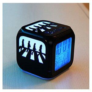 XY-M The Beatles Road Creative 3D Réveil LED Veilleuse Horloge Électronique Horloge De Chevet Chambre-USB Charge