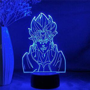 3D Veilleuse Anime Figure Lampe Acrylique JoJo Bizarre Aventure pour Chambre Décor Capteur Tactile Table Colorée Led Dio-Contrôle Tactile