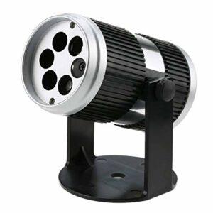 Allibuy Lampe De Projecteur 4W 4LED 360 ° Réglable Dynamique RGBW Mobile Flocon De Neige Film Projecteur