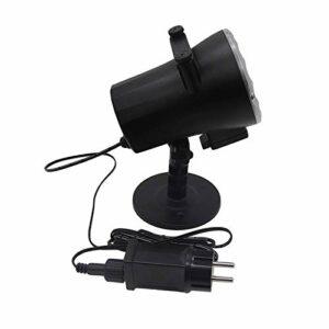 Allibuy Lampe De Projecteur Projecteur Animé Lampe De Scène Projecteur De Film De NeigeVeilleuses De Projecteur LED pour La Décoration De Vacances