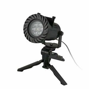Allibuy Lampe De Projecteur Projecteur étanche 12 Modèles Remplaçables Automatiquement LED Lampe De Projecteur