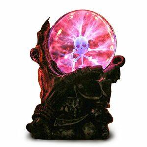 Boules plasma magiques avec base de tête de mort, globe plasma sensible au toucher, veilleuse, jouet fantaisie incroyable pour enfants, fête d'anniversaire, festival, cadeau de Noël