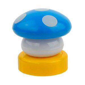 CLENERSA Veilleuse enfant LED s'allume en appuyant sur les piles Soie bleue