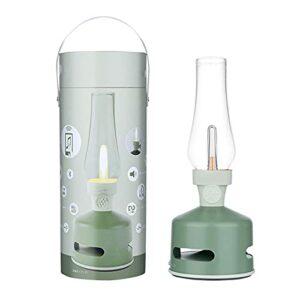 HXXXIN Lampe À Kérosène Classique Bluetooth Audio Rechargeable LED Gradation Haut-Parleur Veilleuse Confession Cadeau Atmosphère Lumière,Light Green
