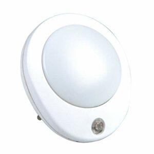 Inter-Union Technoha Unitec Veilleuse LED ronde avec capteur de luminosité Blanc 0,5 W