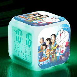 TYWFIOAV ra Un Jouet de Dessin animé de rêve Chevet réveil pour Enfants LED Horloge numérique à Changement de Couleur lumière de réveil Version Lumineuse