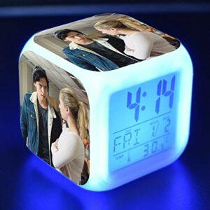 TYWFIOAV Réveil pour Enfants avec lumières LED Lumineuses 7 réveils numériques à Couleurs changeantes