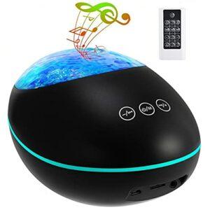 vowit Lampe Projecteur LED Vague de l'océan, Veilleuses pour Enfants, 8 Couleurs Changeant, avec Télécommande, Haut-Parleur Bluetooth, Chansons De Sommeil Intégrées, Minuterie de 2/4 Heures