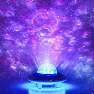 vowit LED Lampe Projecteur Ocean Wave Télécommandée, Lecteur de Musique Intégré, Bluetooth, Veilleuse de Projecteur, pour Décoration de Chambre à Coucher pour Bébés et Adultes
