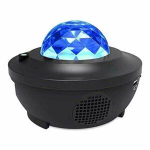 WJYLM Lumières de la Nébuleuse, LED Galaxy Night Star Star Star Star Projecteur Chambre à Coucher Décor Musique Player USB Lampe de Nuit pour Enfants Adulte,Le Parfait Projecteur de Ciel étoilé