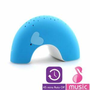 Lumitusi – Blue Elly Easy Clean, Lullaby Twilight Constellation Elephant Veilleuse Projecteur avec musique, finition en caoutchouc (bébé/bébé/nourrisson – tout-petits)