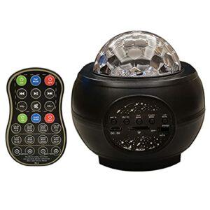 vowit LED Projecteur Ciel etoil Veilleuses Galaxy Sea Wave, Starry Star Light Haut-Parleur Bluetooth Intégré, svec Télécommande pour Chambre à Coucher Enfants Adultes Decor Décor