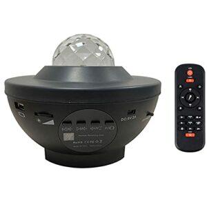 vowit Projecteur Ciel etoil WiFi Intelligent, Veilleuse Rotative Ocean Wave Music, LED Lampe avec Contrôle Intelligent des Haut-parleurs,Bluetooth,Minuterie,Télécommande, pour Enfants Adultes