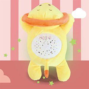 JIEYUEBAI Baby Sleep Peluche Kawaii Projecteur d'étoiles avec musique en peluche pour bébé Couleur : E Taille M
