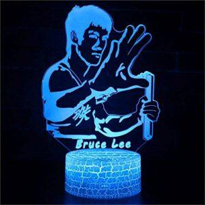 Bruce Lee Lampe 3D Lune Veilleuse Planetarium Nébuleuse Projecteur Lampe Chambre à Coucher pour Bébé