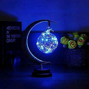 Enchanted Lunar Lamp – 2021 Nouveau Lampe De Lune Enfants Veilleuse Lampe De Galaxie, Lampe De Lune Suspendue Veilleuse De Lune Magique – Décoration De Fête Romantique (bleu galaxie)