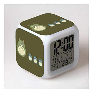 Kaibia Cartoon Réveil Jouet Numéro 7 changements de Couleur LED réveil numérique veilleuse Changement coloré Horloge Cadeau de Noël