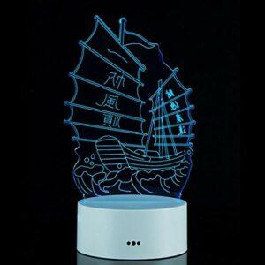 Lampe de Nuit Creative 3D Night Light Fête du Printemps Cadeau nuit Mignon Cadeau 3D lisse Veilleuse Home 3D Night Light Lumières de nuit décoratives à LED