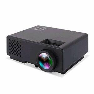 Mini projecteur, 1080P et 30~120 » affichage pris en charge, 1200 Lux Projecteur vidéo portable avec 20 000 heures LED vie de la lampe, Compatible avec VGA, HDMI, USB, AV (Color : White)