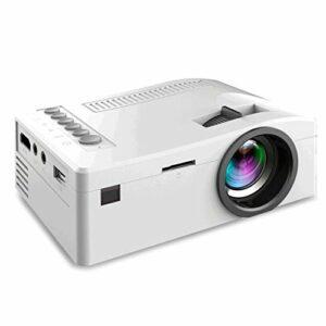 Mini Projecteur LED Projecteur Full HD 1080P 13~60 pris en charge » affichage pris en charge, Maison et extérieur Projecteur Compatible avec USB, TF, HDMI, AV (Color : White)