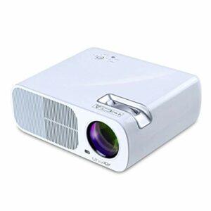 Projecteur, 1080P, 2600 ANSI Lux Projecteur vidéo portable avec 20 000 LED Hrs vie de la lampe, Compatible avec TV Stick, HDMI, VGA, TV, VA et USB (Color : White)