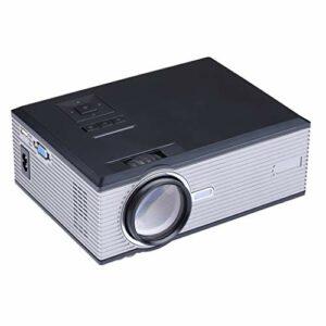 Projecteur vidéo portable avec 20 000 heures LED vie de la lampe, 1080P et 130 » affichage pris en charge, 1500 ANSI Lux, Maison et extérieur Projecteur Compatible avec TV Stick, HDMI, VGA, USB