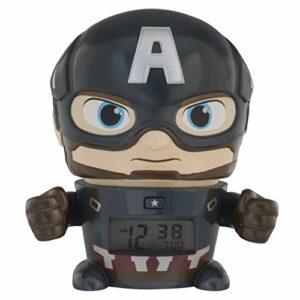 Réveil veilleuse avec sons du personnage pour enfant BulbBotz Marvel 2021722 Avengers: Infinity War Captain America
