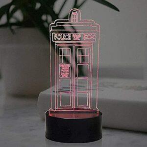 ZSBoBo Téléphone Box Stéréo 3D Cartoon Animation Veilleuse LED Coloré Gradient Tactile Télécommande Lampe De Table USB Table De Chevet Creative Cadeau d'anniversaire Lampe De Décoration