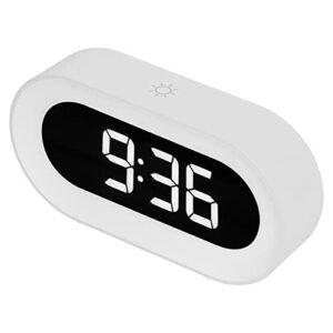 01 Réveil Snooze, Réveil de Chargement USB Sonneries Musicales pour Chambres à Coucher pour Enfants(Blanche)