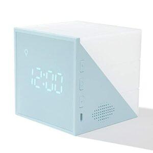 abbybubble Creative Time Cube Réveil LED Coloré Veilleuse Petit Réveil USB Charge Chevet Intelligent Enfants Réveil