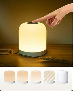 Bestcool Veilleuse LED, Lampe de Chevet Colorée Rechargeable Portable à Contrôle Tactile 3 Luminosité Réglable Veilleuse Suspendue Lampe Tactile RVB Changeant de Couleur pour Enfants Camping