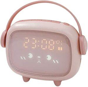GDEVNSL Réveil pour Enfants Formateur de Sommeil pour Enfants Wake Up Light Night Light Minuterie de Sommeil – Rose