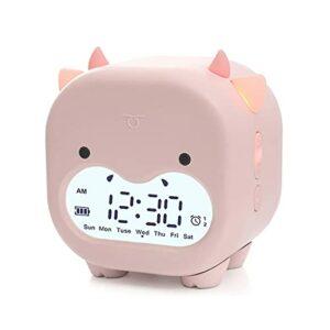 GDEVNSL Réveil pour Enfants, réveil numérique d'entraînement au Sommeil pour Enfants, réveil avec veilleuse, 2 alarmes/Commande vocale/minuterie, réveil de Bureau de Chevet Meilleur Cadeau pour garç