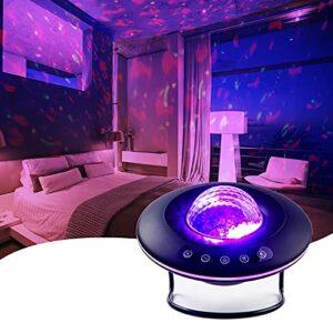LooEooDoo Projecteur d'étoiles LED – Éclairage galaxie – Veilleuse et ambiance chambre à coucher (version UFO)