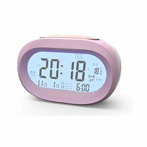 NC Réveil Intelligent avec veilleuse Calendrier Température Temps Capteur Intelligent Musique Snooze Rétro-éclairage Convient pour Chambre Salon Maternelle