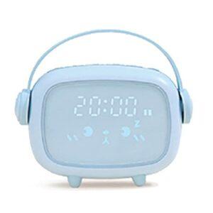 Petit réveil électronique LED numérique pour enfants avec minuteur – Réveil mignon – Veilleuse – Réveil pour enfants