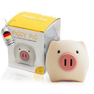 Piggy Pig Veilleuse LED en forme de cochon pour enfants à intensité variable avec batterie – L'original – Veilleuse – Veilleuse