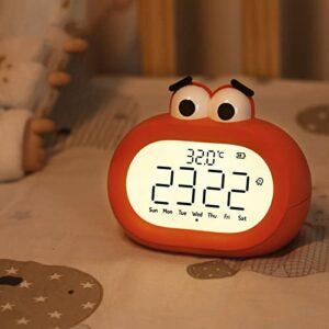 Réveil pour enfants pour enfants, réveils pour enfants pour chambre de garçons et filles, veilleuse pour enfants, contrôle tactile et réveil animal mignon pour chambre d'enfants avec écran LED