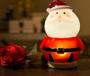 URGrace Veilleuse LED Père Noël pour décoration de la maison, cadeau de Saint Valentin, cadeau de Noël pour enfants