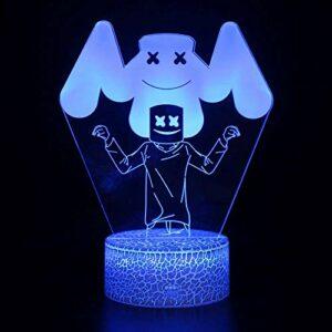 Veilleuse 3D LED magique avec télécommande – Illusion changeante de couleur – Cadeau créatif pour enfants