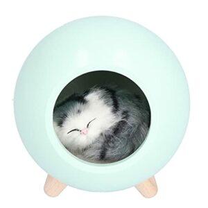 Veilleuse en forme de boule, veilleuse de chevet longue endurance pour chambre à coucher pour les amoureux des chats(vert)